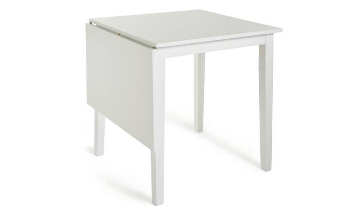 Habitat Chicago Extending 4 Seater Dining Table - White