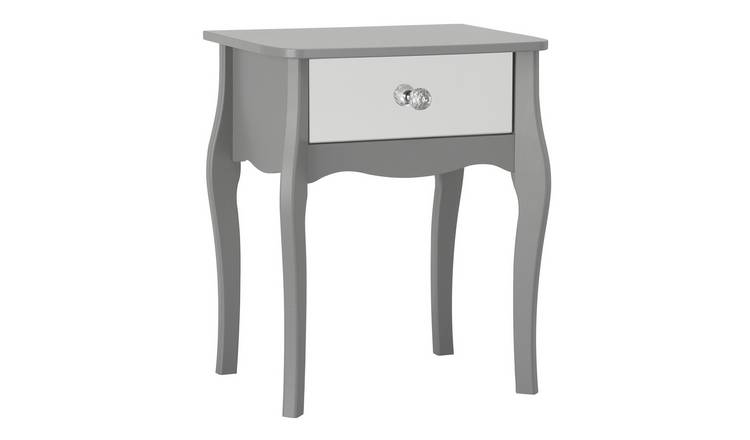 Argos Home Amelie 1 Drawer Mirrored Bedside Table - Grey
