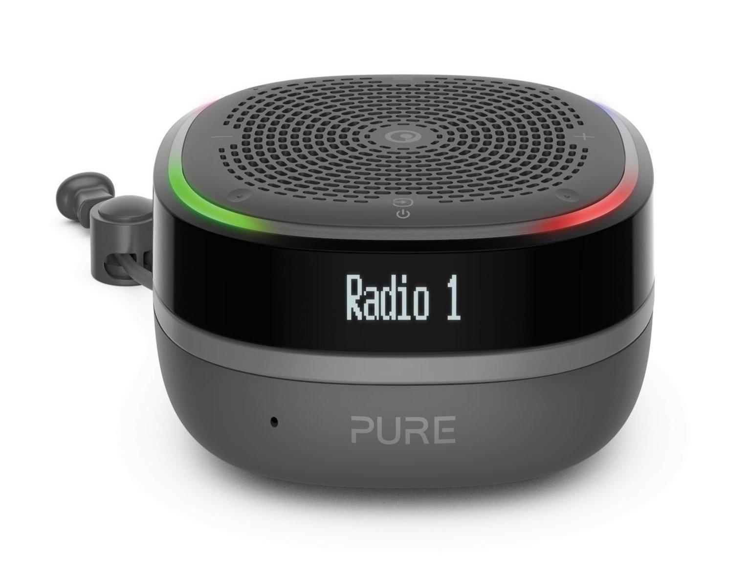 Pure StreamR Portable Bluetooth Speaker/ DAB Radio - Black