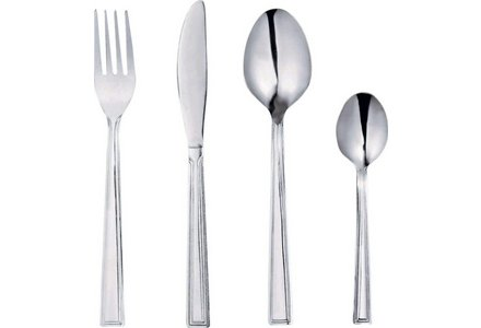 Simple Value 24 Piece Venice Cutlery Set.
