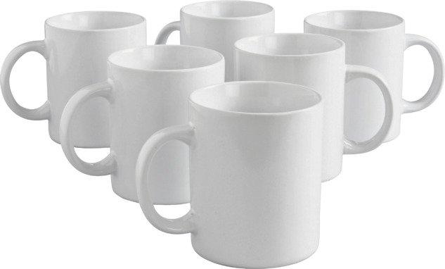Argos Home Set of 6 Porcelain Mugs - White