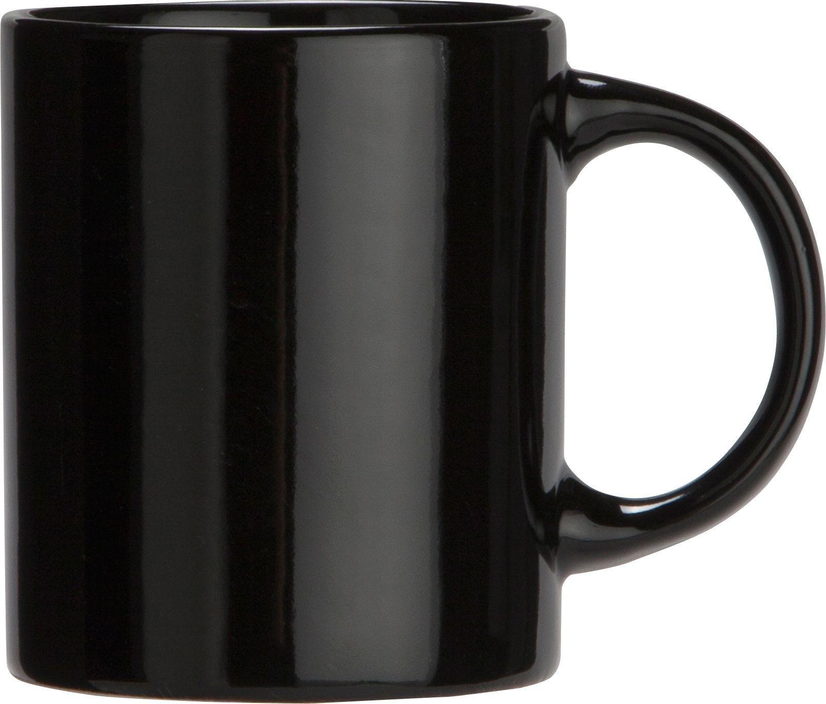 Argos Home Set of 6 Porcelain Mugs - Black