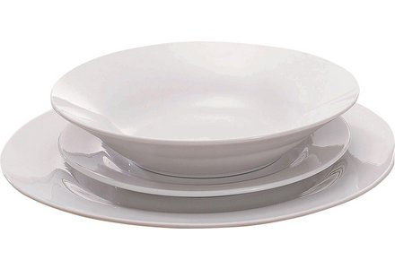 Simple Value 12 Piece Porcelain Dinner Set - White.