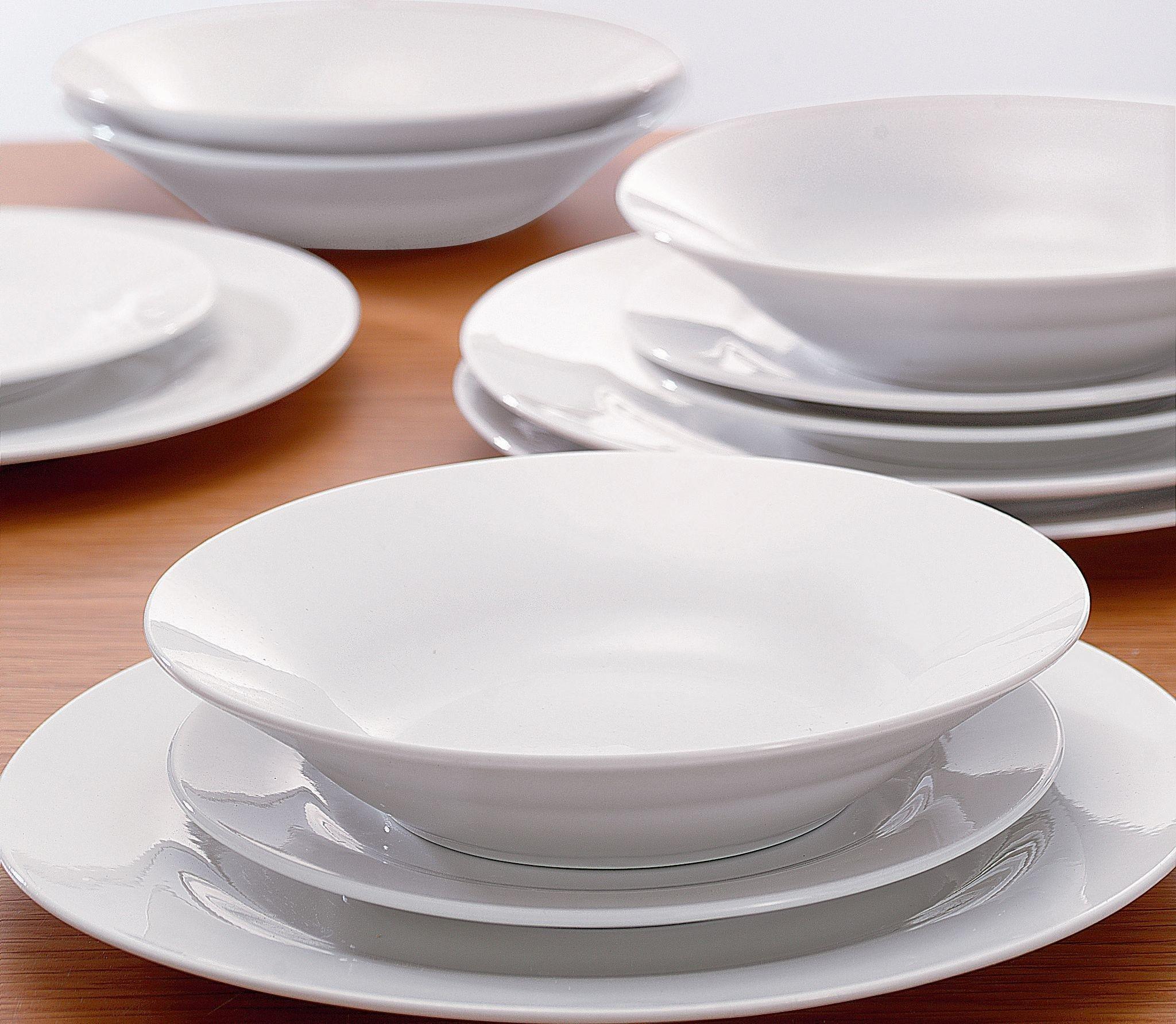 Buy Simple Value 12 Piece Porcelain Dinner Set White At .