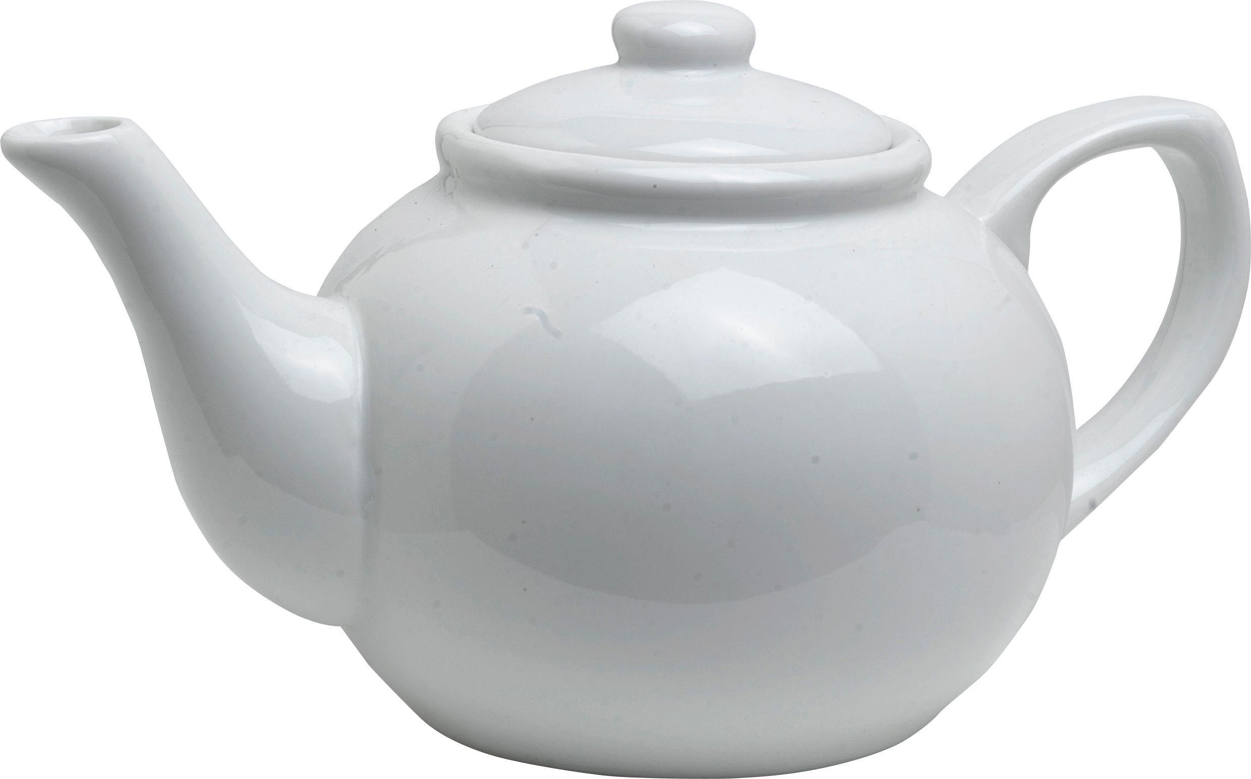 Argos Home 6 Cup Traditional Porcelain Teapot - White