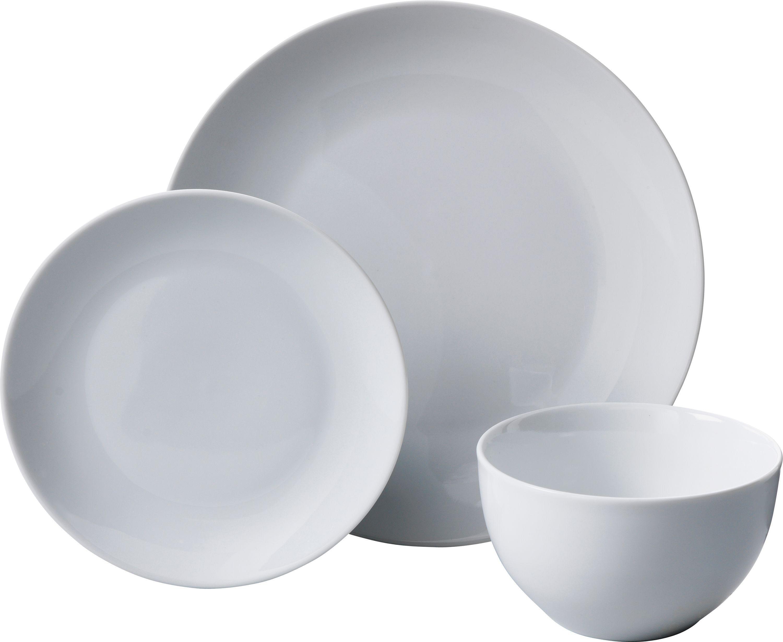 12 piece porcelain floral dinner set black and white. Black Bedroom Furniture Sets. Home Design Ideas