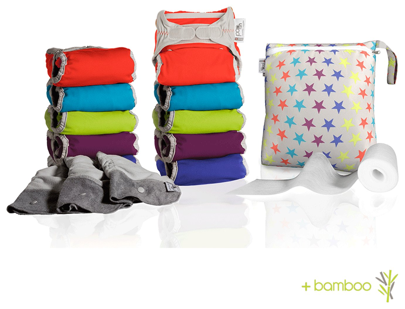 Pop-in Middle Box Brights Baby Nappies