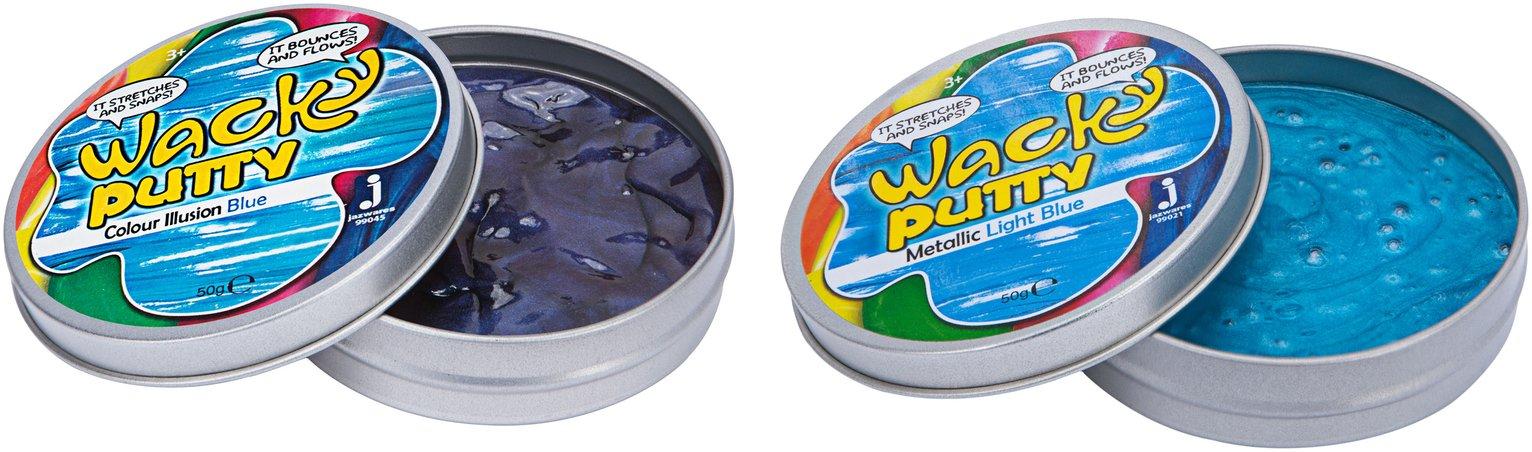 Wacky Putty Metallic & Colour Assortment -Twin Pack Slime