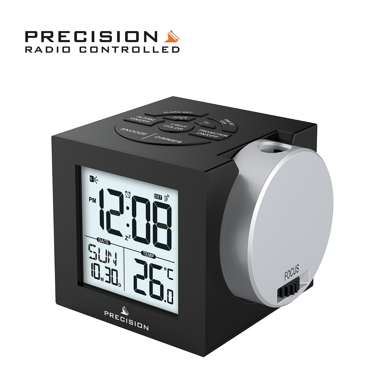 Precision Radio Controlled Projection Digital Alarm Clock