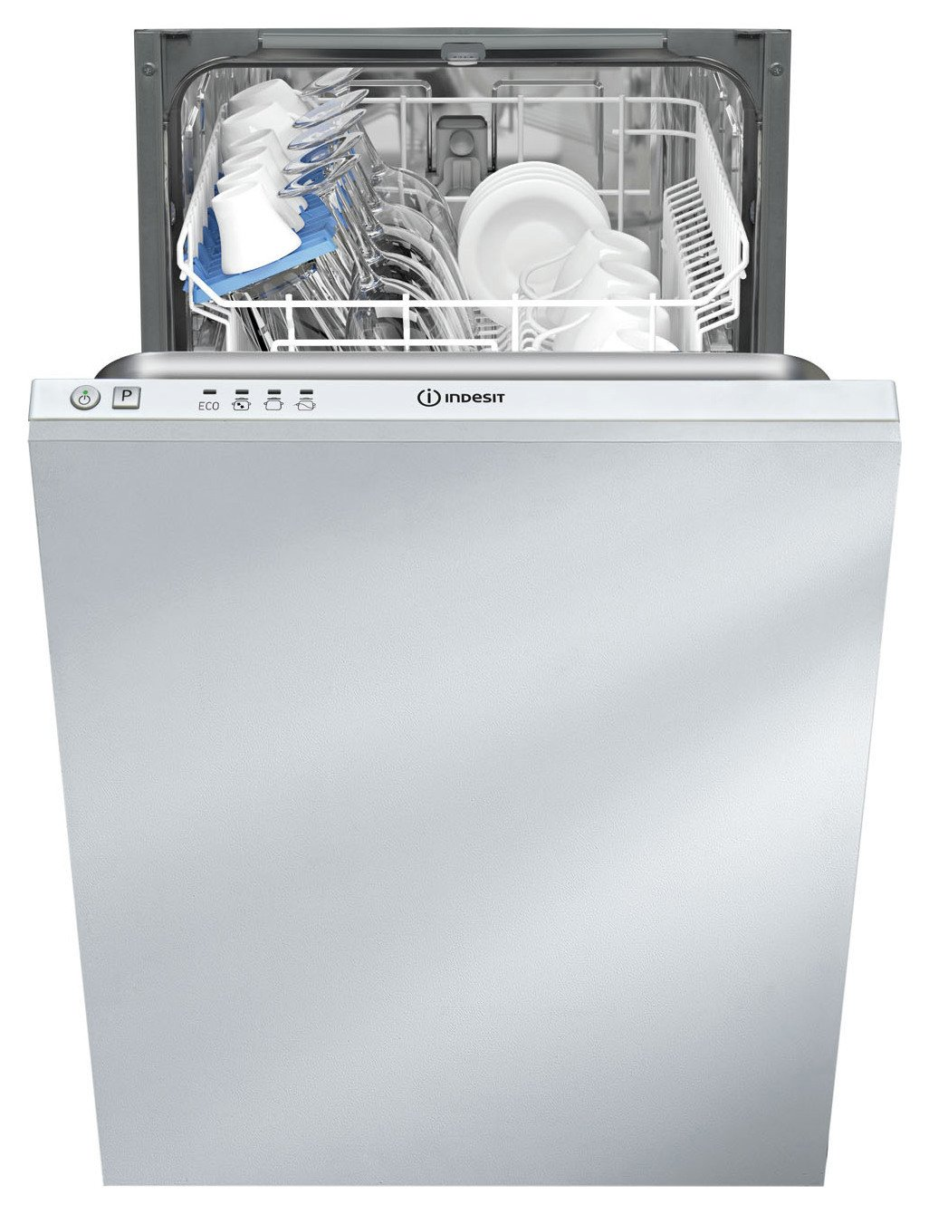Indesit DISR14B1 Integrated Slimline Dishwasher - White