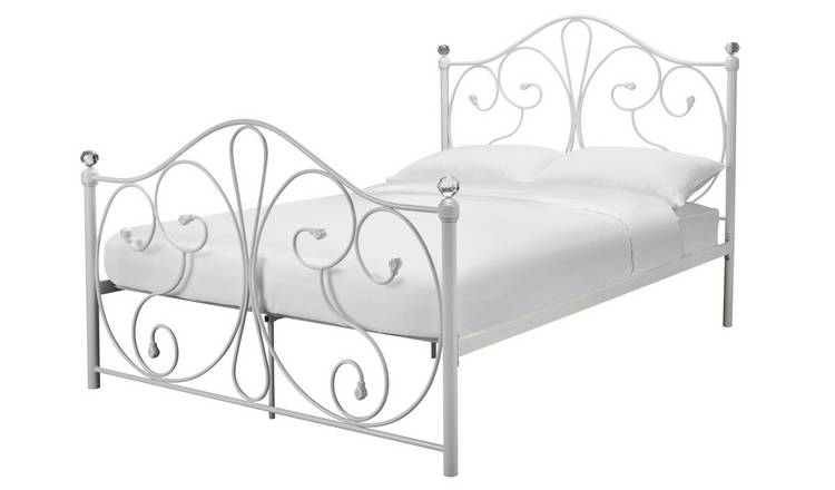 Argos Home Marietta Small Double Metal Bed Frame - White