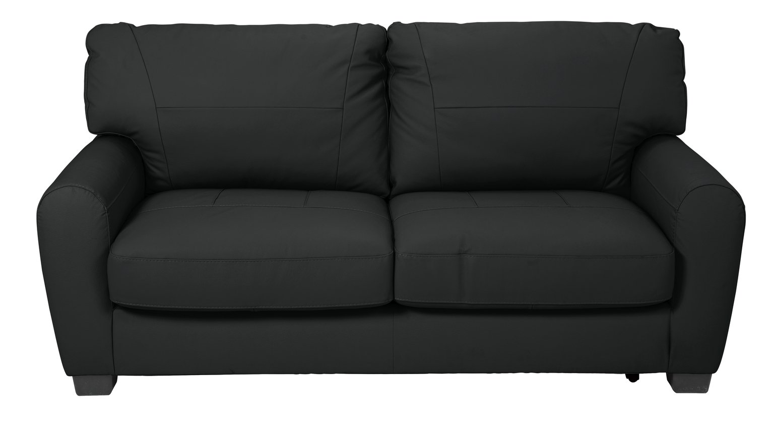 Argos Home Stefano 2 Seater Faux Leather Sofa Bed - Black