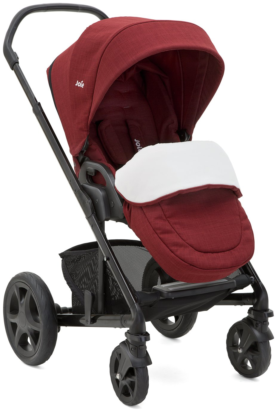 Joie Cranberry Chrome DLX Pushchair & Carry Cot