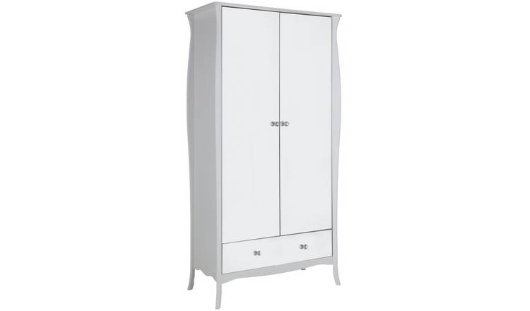 Argos Home Amelie 2 Door 1 Drawer Mirrored Wardrobe - White