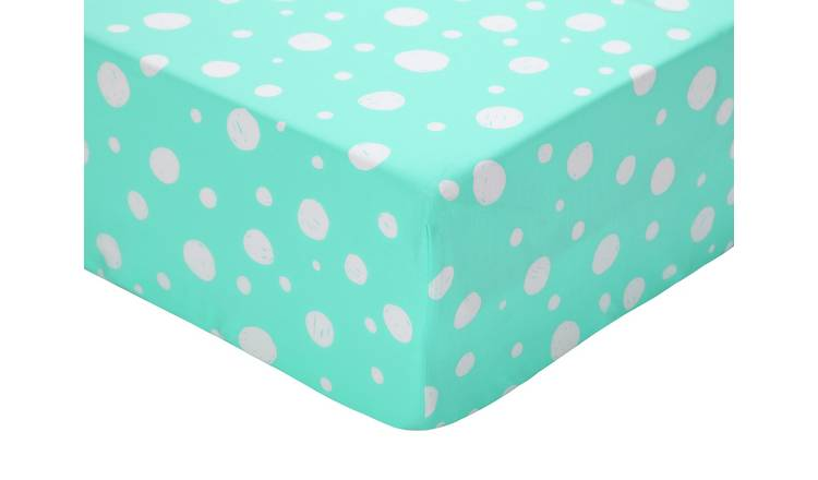 Argos Home Bubble Print Fitted Sheet - Toddler