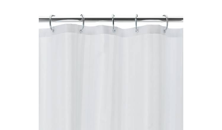 Argos Home Multi-way Shower Curtain and Rail Set - Chrome