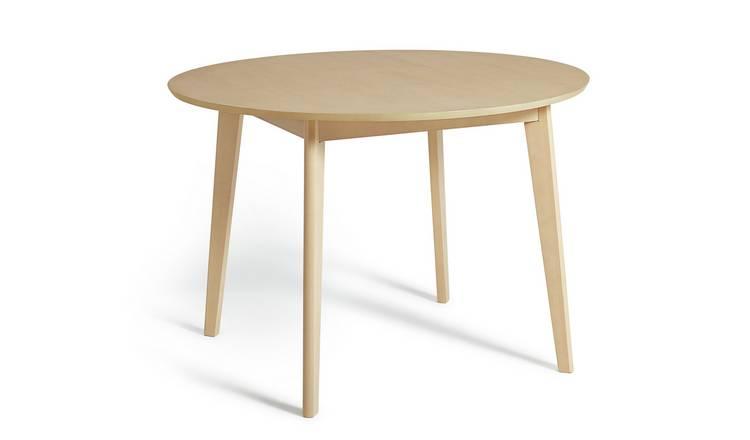 Buy Habitat Skandi Veneer 4 Seater Round Table Light Oak Dining Tables Argos
