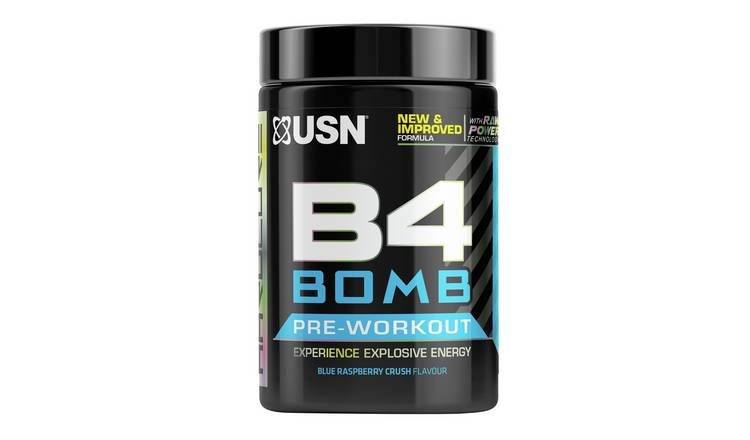USN B4 Bomb Explosive Energy Preworkout Raspberry Crush 300g