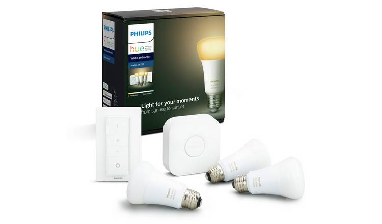 Philips Hue Starter Kit with White Ambience E27 Bulb