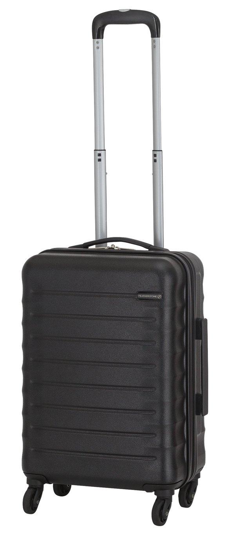 Featherstone 4 Wheel Hard Cabin-Size Suitcase - Black