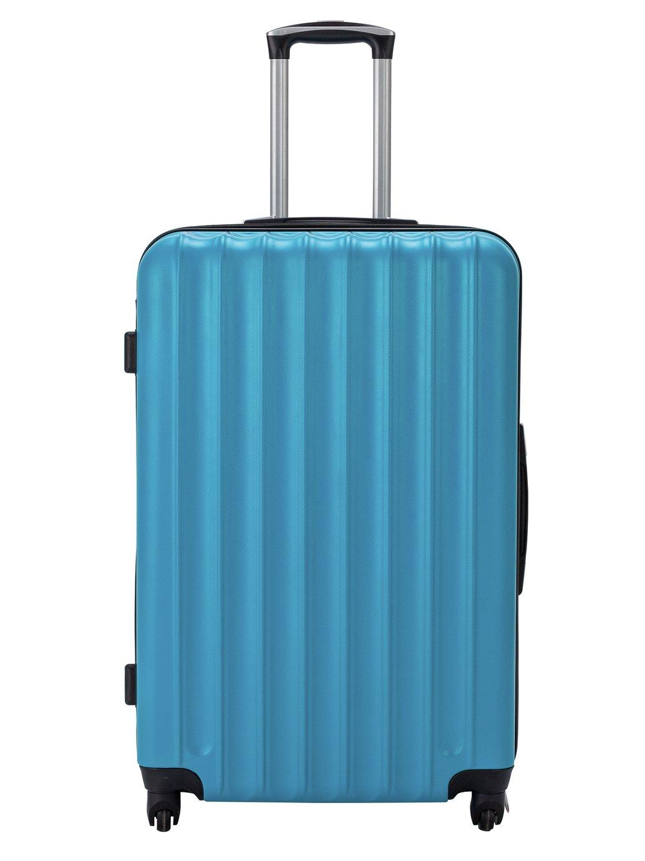 Hard 4 Wheel Candy Blue Suitcase - Large
