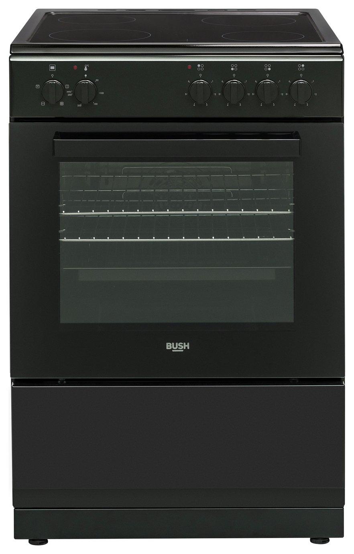 Bush BS60ELB 60cm Single Oven Electric Cooker - Black