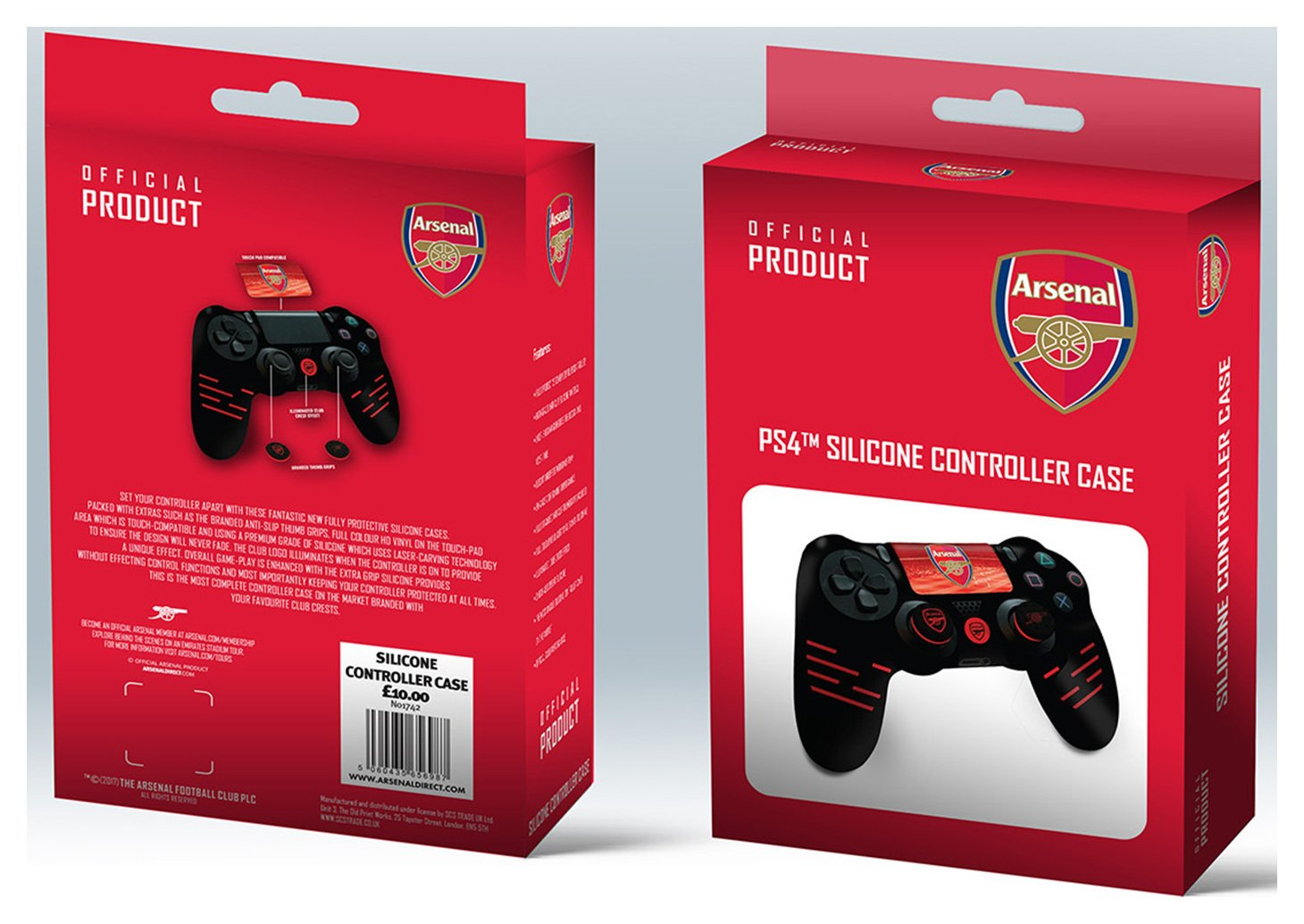 'Official Arsenal Silicone Ps4 Controller Case