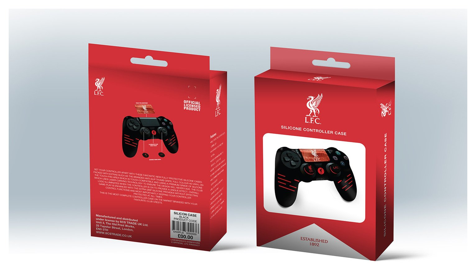 'Official Liverpool Silicone Ps4 Controller Case