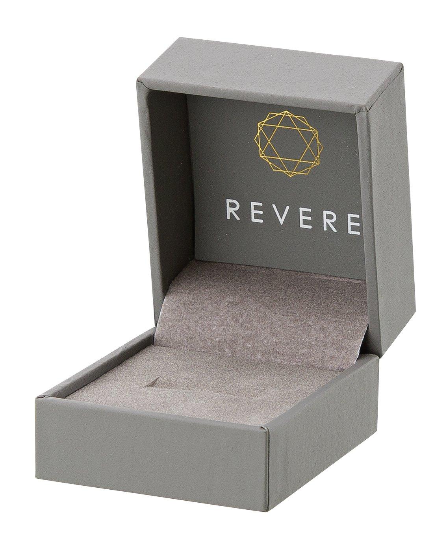 Revere 9ct White Gold Aqua and Diamond Accent Vintage Ring