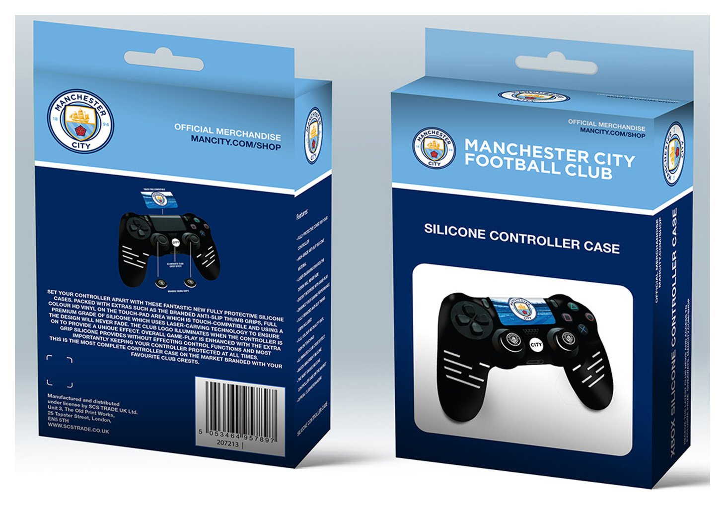 'Official Manchester City Silicone Ps4 Controller Case
