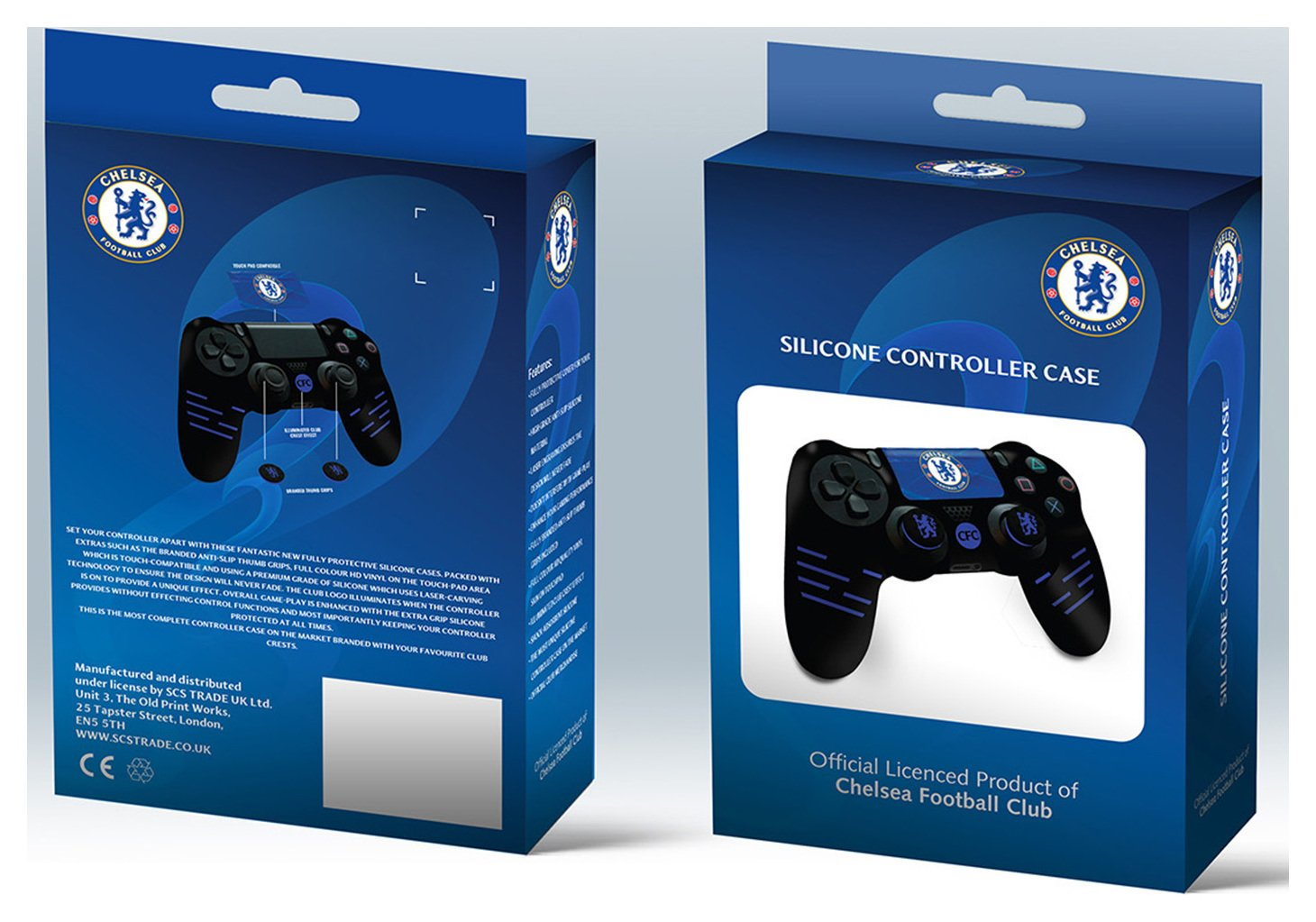 Image of Official Chelsea Silicone PS4 Controller Case