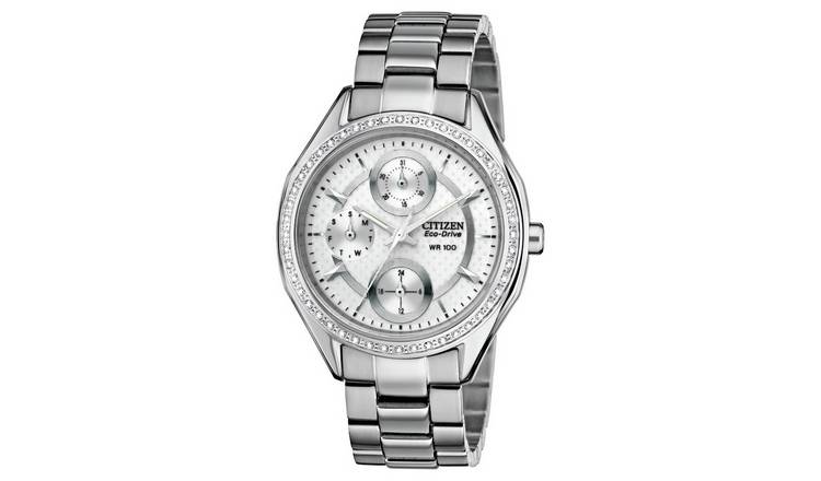 Citizen Ladies Multi Dial Stone Set Bracelet Watch
