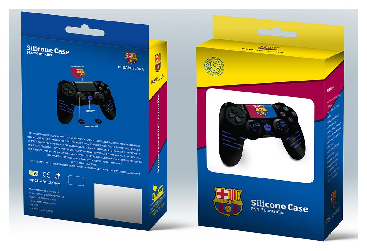 'Official Barcelona Silicone Ps4 Controller Case