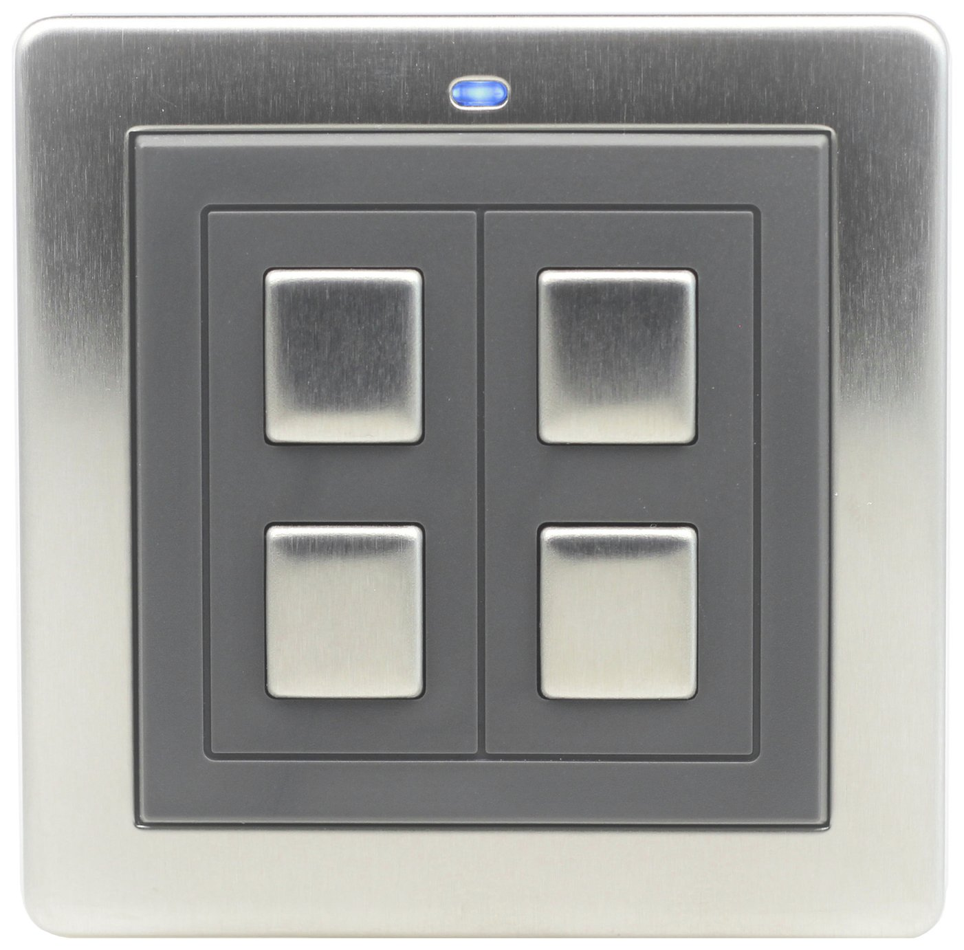Lightwave RF 2 Gang Switch - Stainless Steel