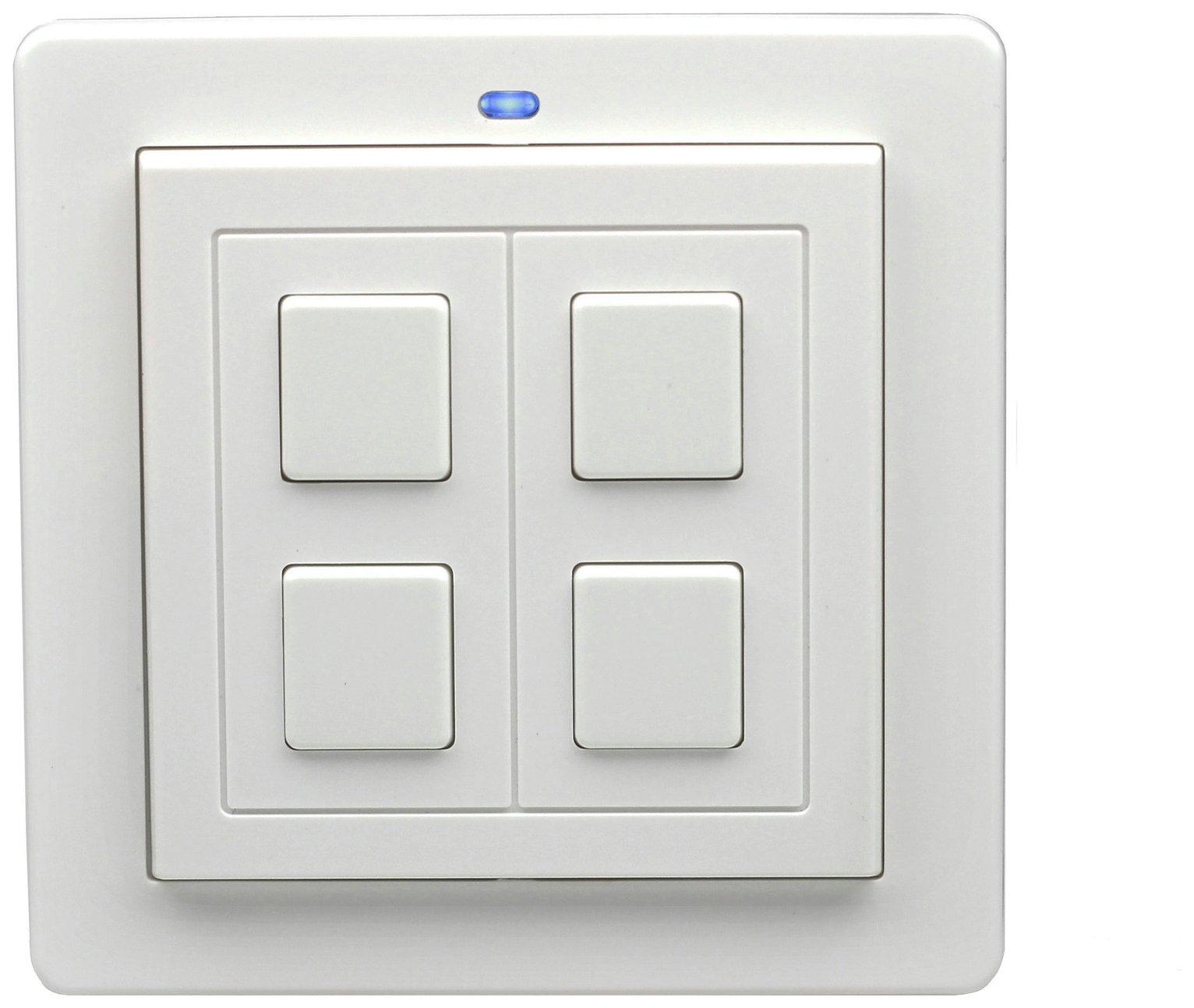 Lightwave RF 2 Gang Switch - White