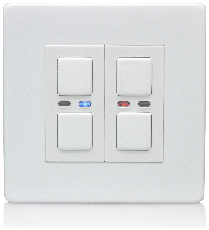 Lightwave RF 2 Gang Dimmer Switch - White