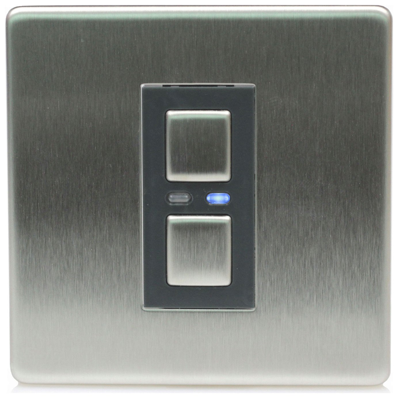 Lightwave RF 1 Gang Dimmer Switch - Stainless Steel