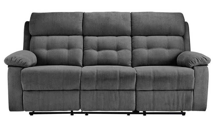 Terrific Buy Argos Home June 3 Seater Fabric Recliner Sofa Charcoal Sofas Argos Dailytribune Chair Design For Home Dailytribuneorg