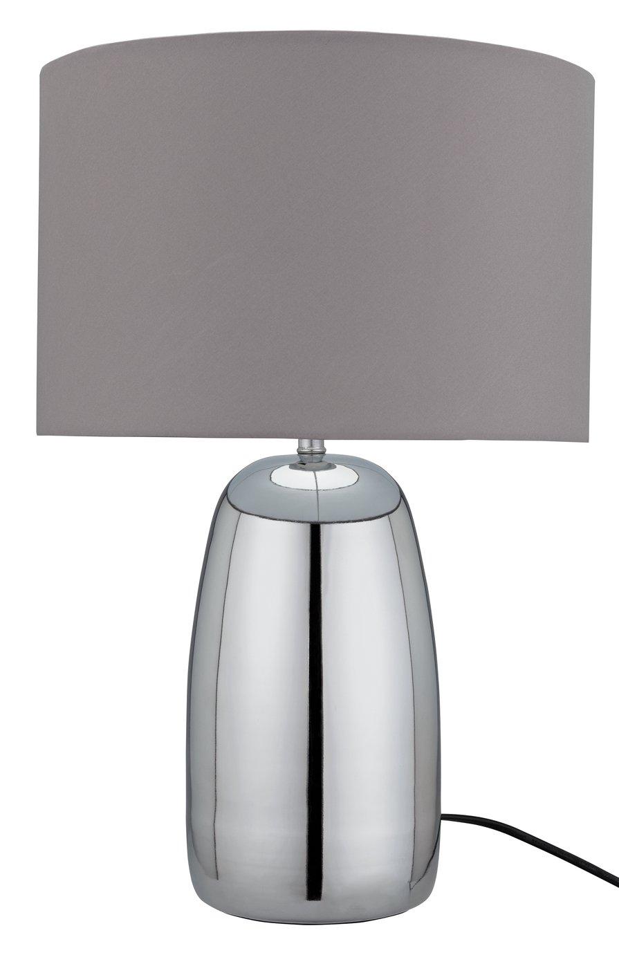 Argos Home Largo Touch Table Lamp - Grey & Chrome