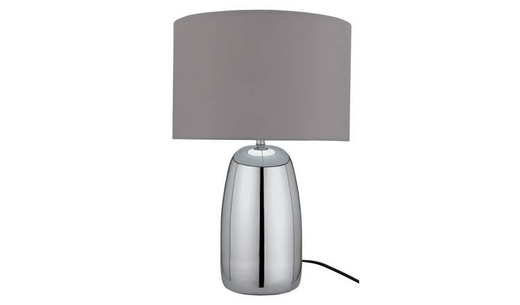 Argos Home Largo Touch Table Lamp - Grey & Chrome