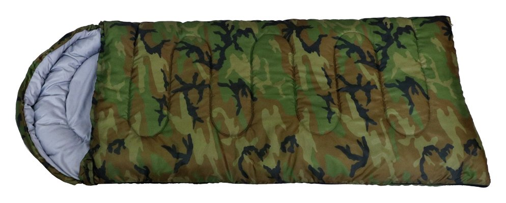 ProAction Cowl 200GSM Camouflage Kids Sleeping Bag