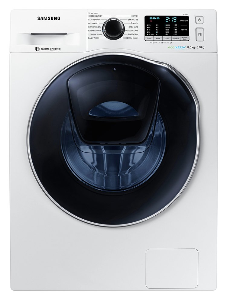 Samsung WD80K5B10OW 8KG 1400 Spin Washing Machine - White