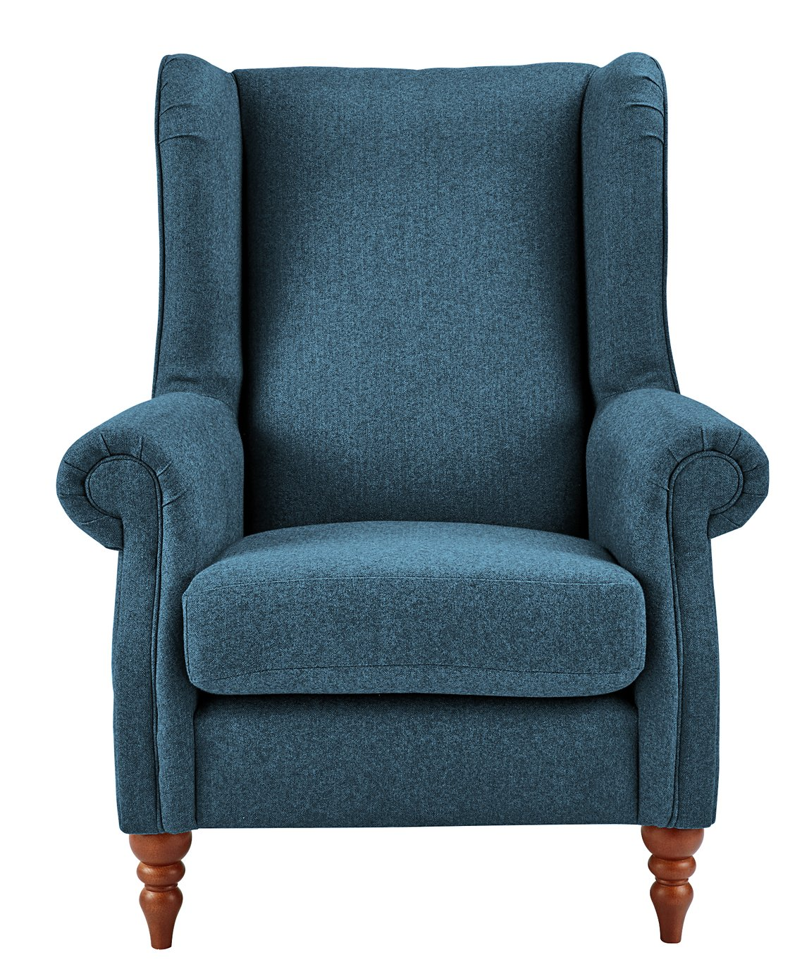 Heart of House Argyll Tweed Fabric Chair - Blue