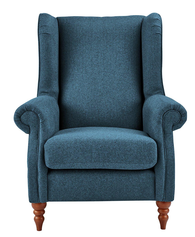 Argos Home Argyll Fabric High Back Chair - Blue
