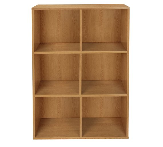 buy home phoenix 6 cube storage unit oak effect at argos. Black Bedroom Furniture Sets. Home Design Ideas