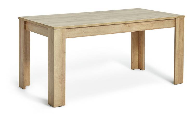 Habitat Miami Extending 6 - 8 Seater Table - Oak Effect