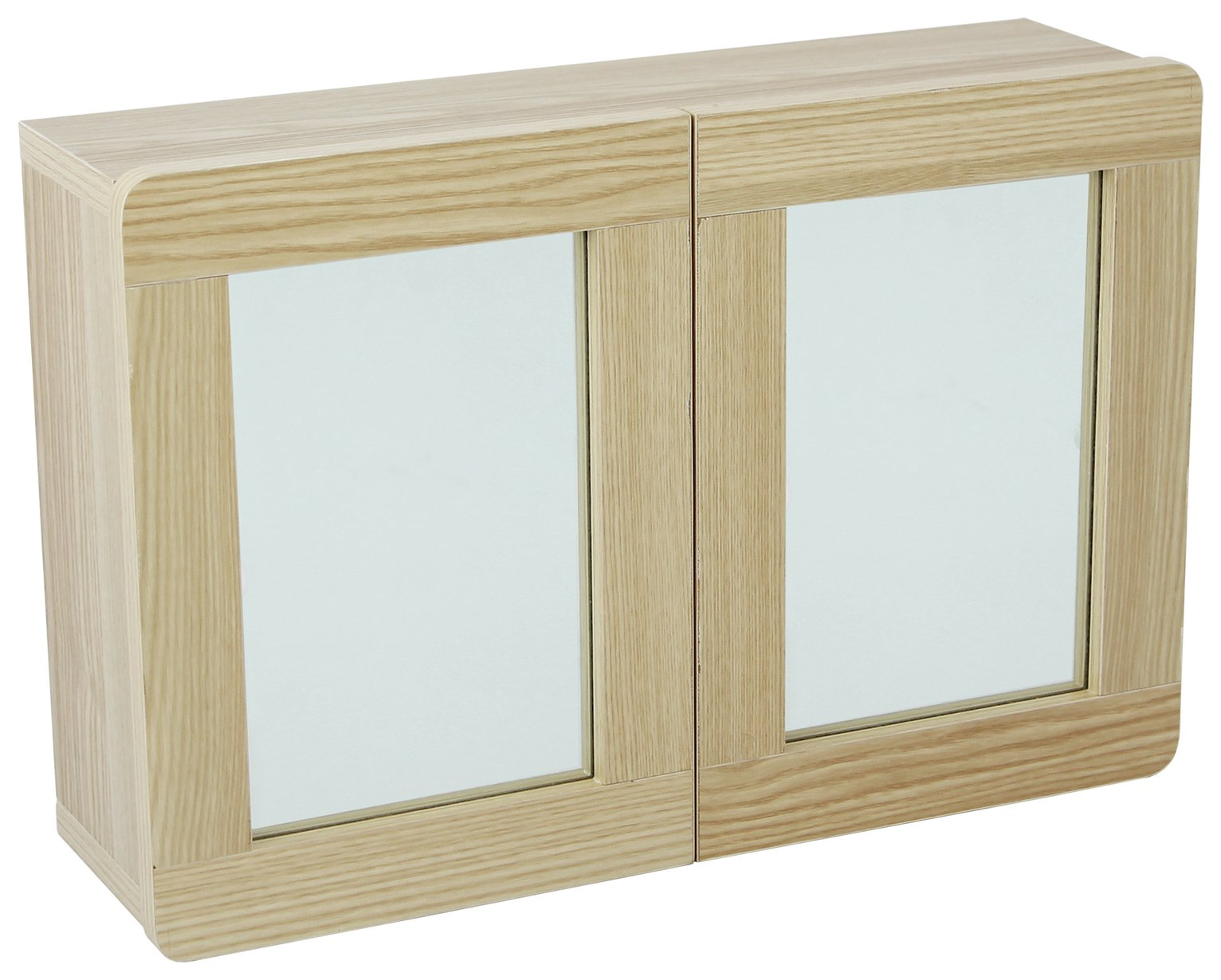 Image of Collection Caleb 2 Door Mirrored Wall Cabinet - Two Tone