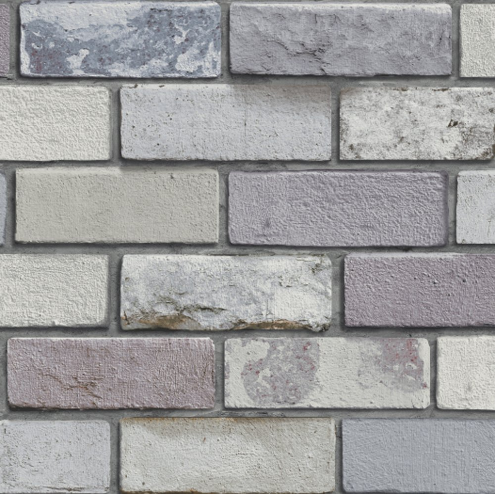 Arthouse Industrial Brick Wallpaper - Grey