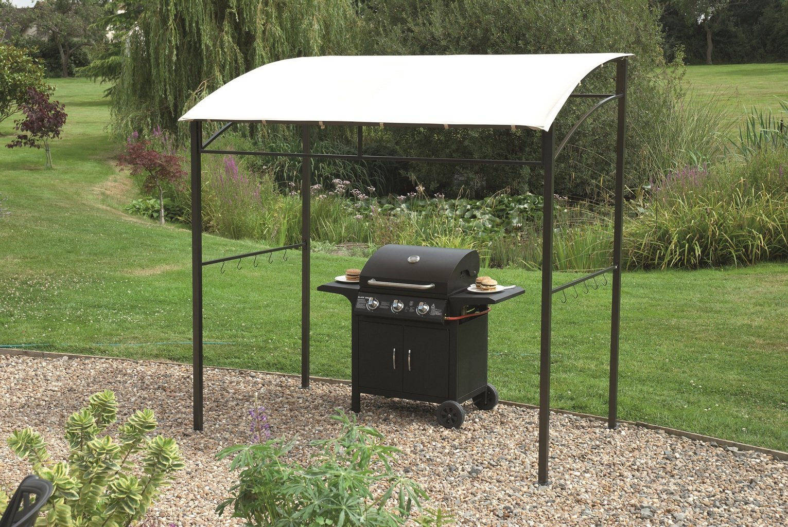Image of Greenhurst BBQ Gazebo with Sloping Roof