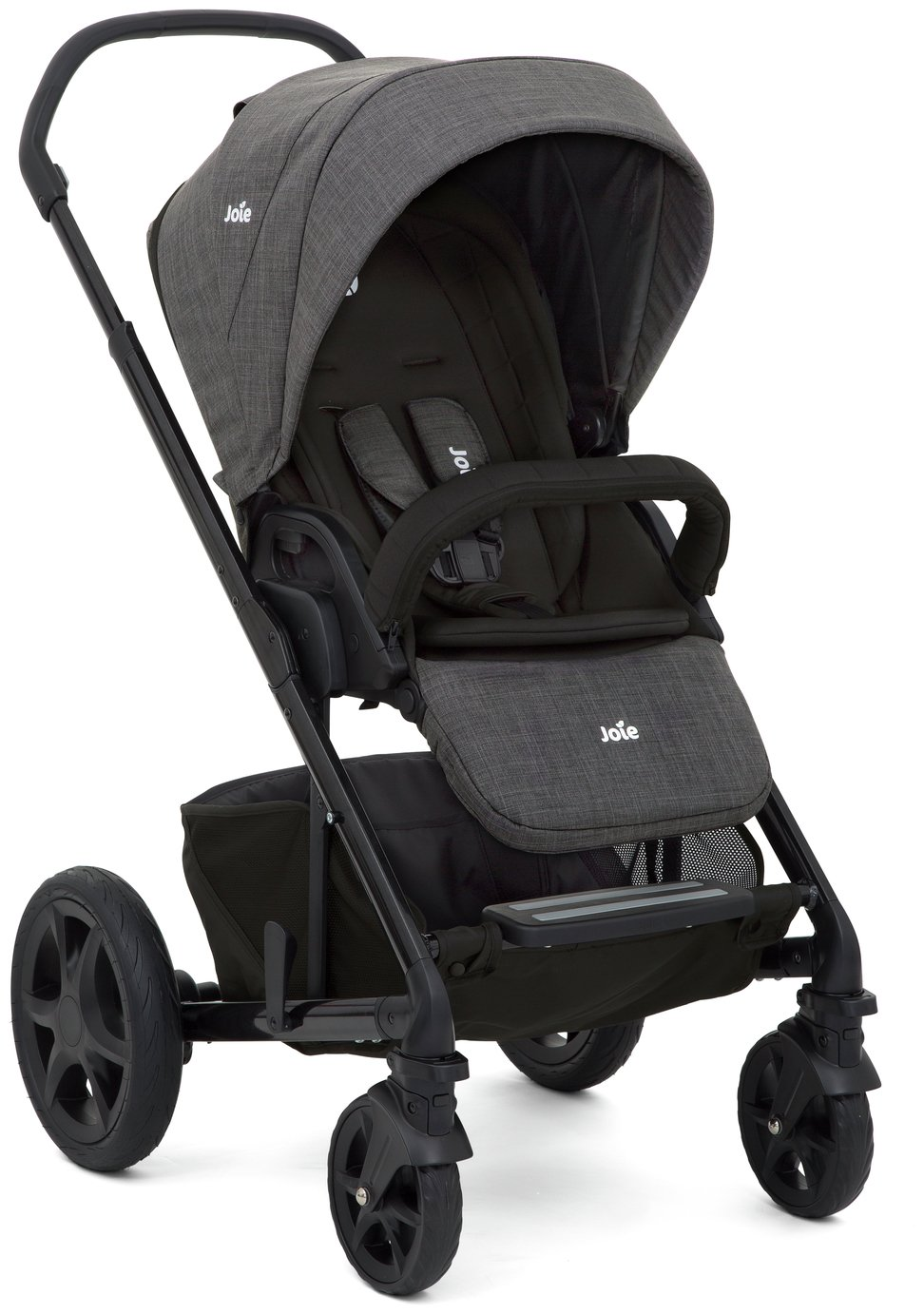 Image of Joie Chrome DLX Pushchair and Carrycot Pavement